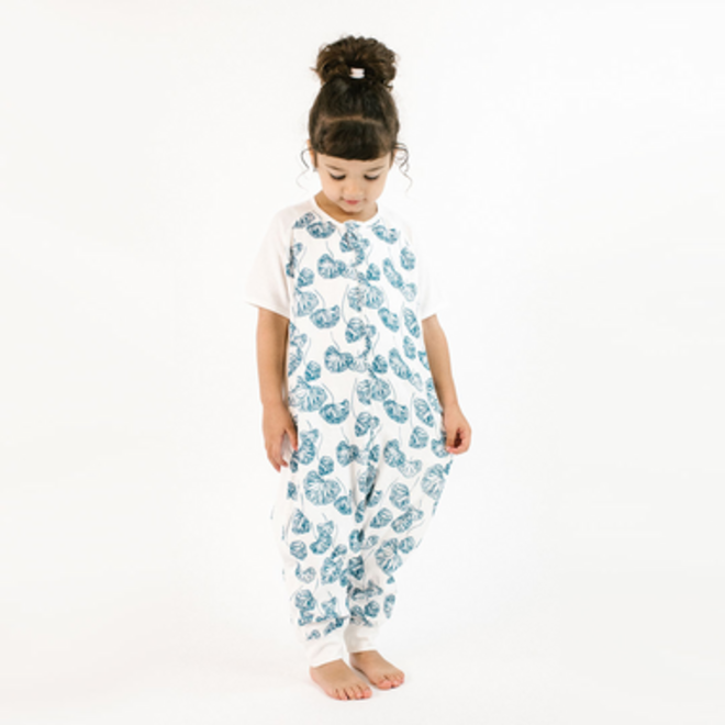 Bamboo Long Sleeve Sleep Suit 0.6 TOG - Lily Pad