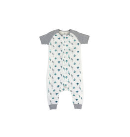 Nest Design Raglan Bamboo Short Sleeve Sleep Suit 0.6 TOG - Peacock Parade