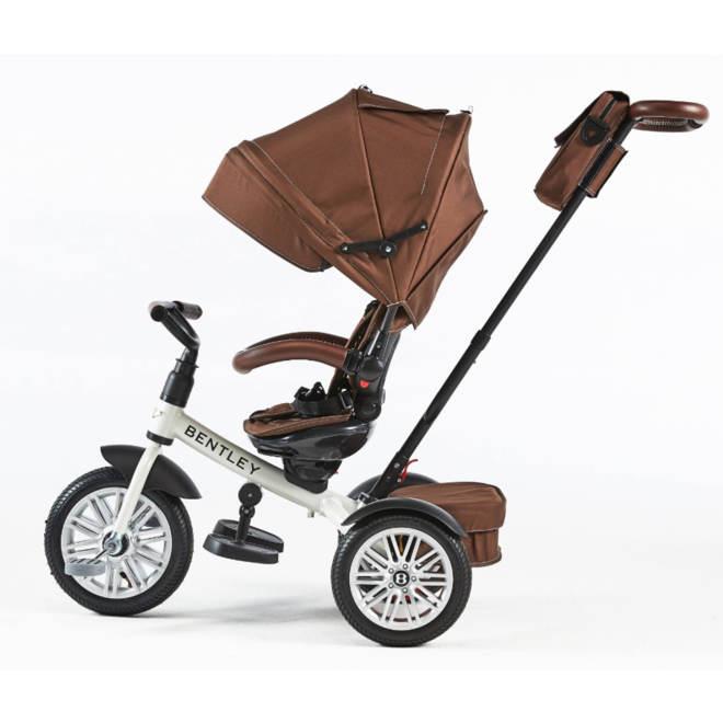 Bentley 6-in-1 Baby Stroller / Kids Trike - White Satin(Brown)