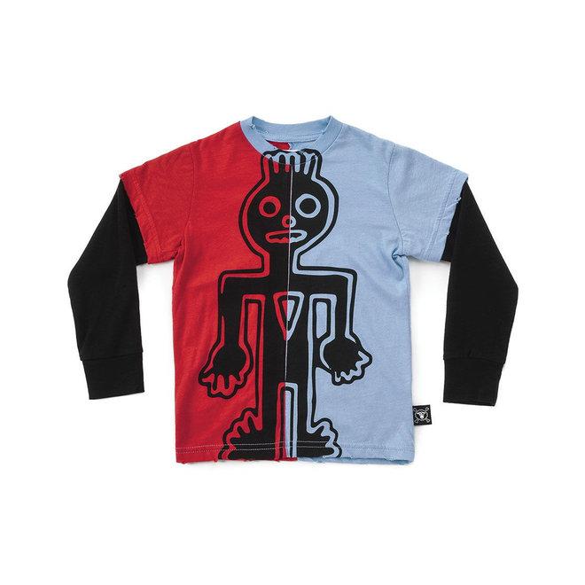 1/2 & 1/2 Tribal Dancer T-Shirt Sky Blue