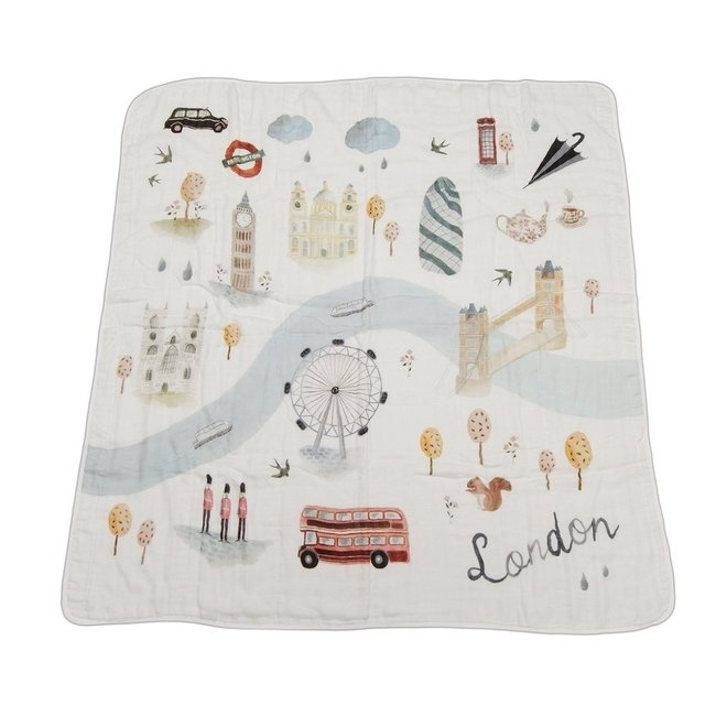 Muslin Quilt Blanket - London