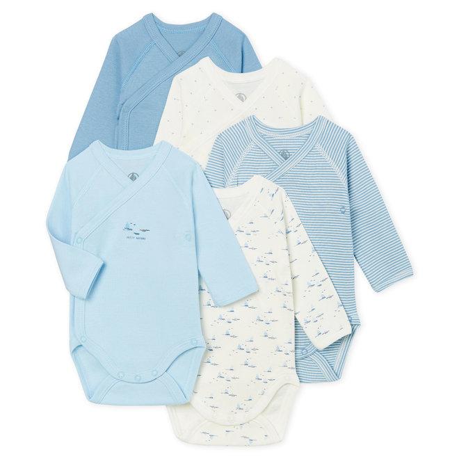 Newborn Babies' Long-Sleeved Bodysuit - 5-Piece Set Boat