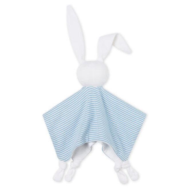 Babies' Ribbed Bunny Comforter Blue