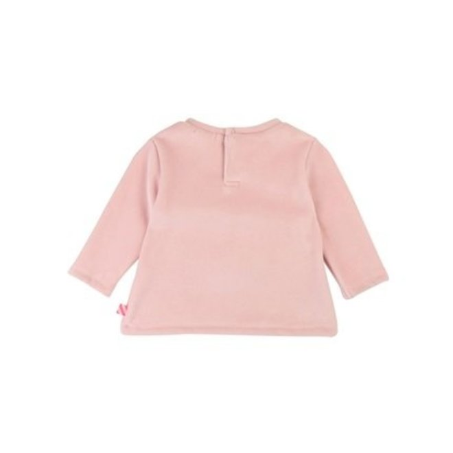 Girls Pink Velour Sweatshirt