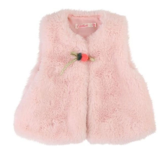 Fall 1 Sleeveless Cardigan Pink