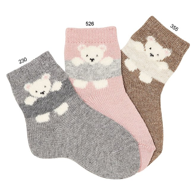 Condor Polar Bear Ebroidery Short Sock Clar