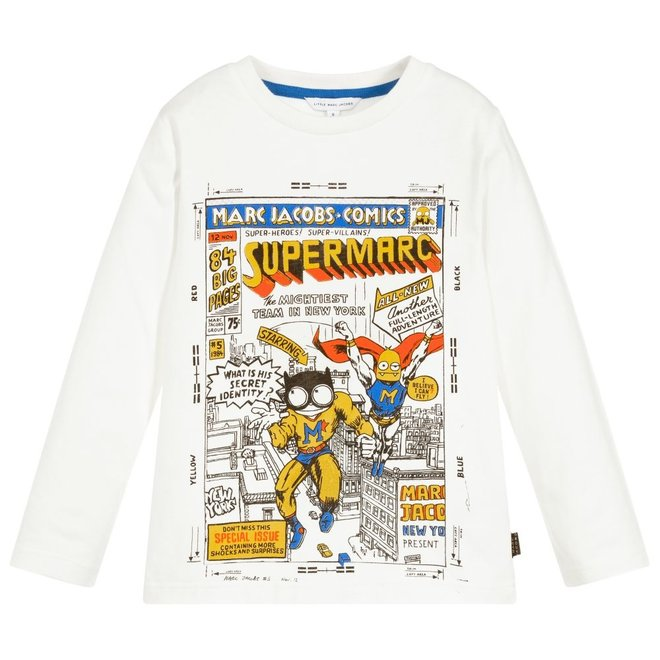 Boys White Cotton Top Offwhite