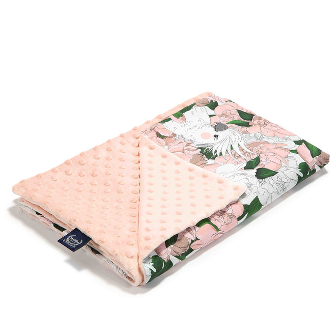 MEDIUM LIGHT BLANKET - LADY PEONY - POWDER PINK