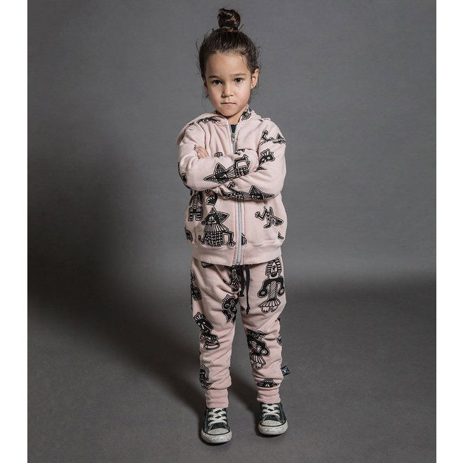 Nununu All Over Tribal Dancers Baggy Pants-Pink