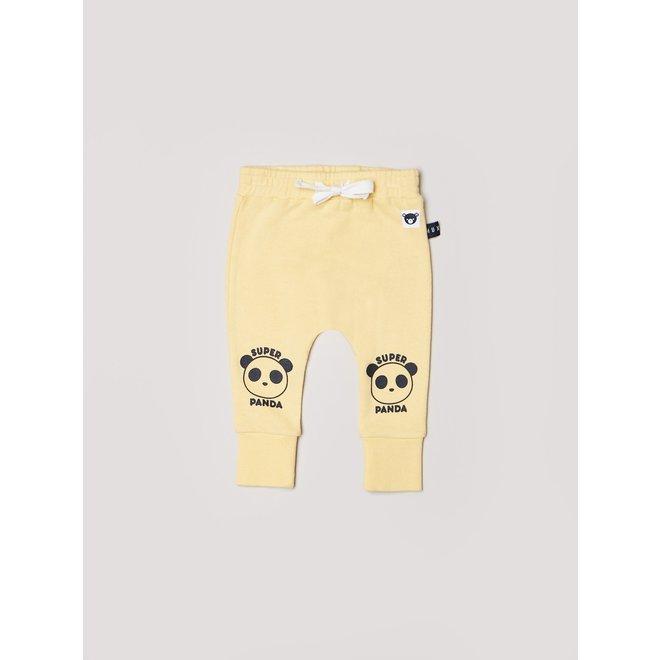 Hux Baby Super Panda Drop Crotch Pant Banana