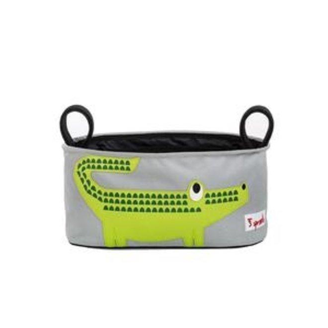 3 Sprouts Crocodile Stroller Organizer - Green