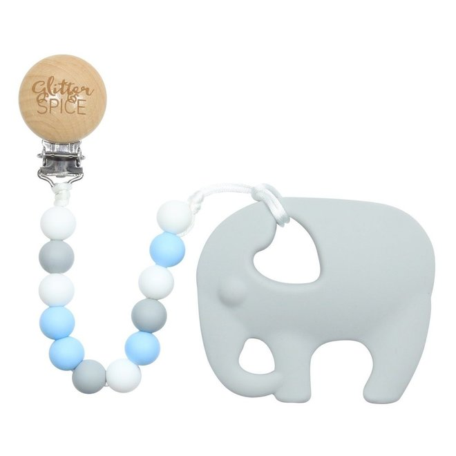 Glitter & Spice Elephant Teether - Noah