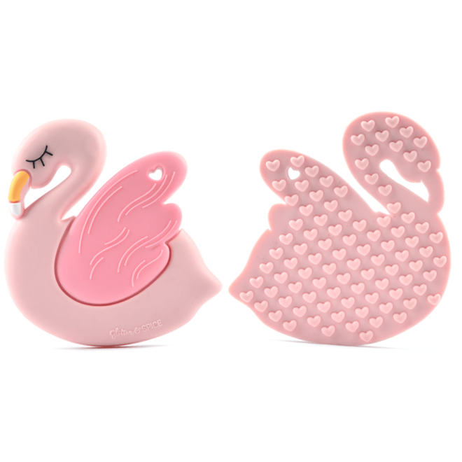 Glitter & Spice Flamingo Teether
