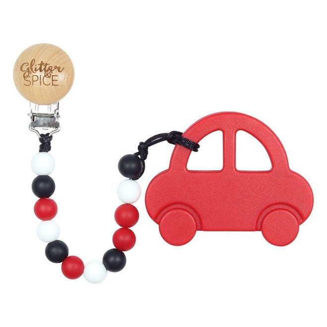 Glitter & Spice Car Teether - Candy Apple Red