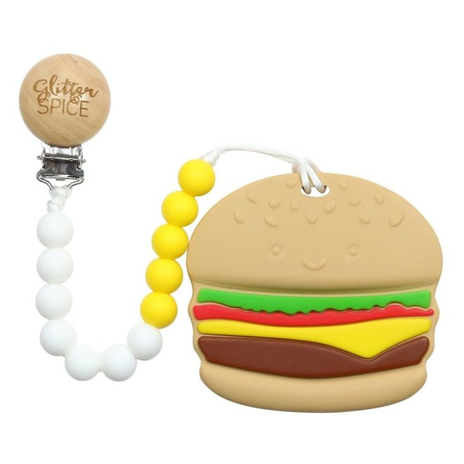 Glitter & Spice Burger Teether
