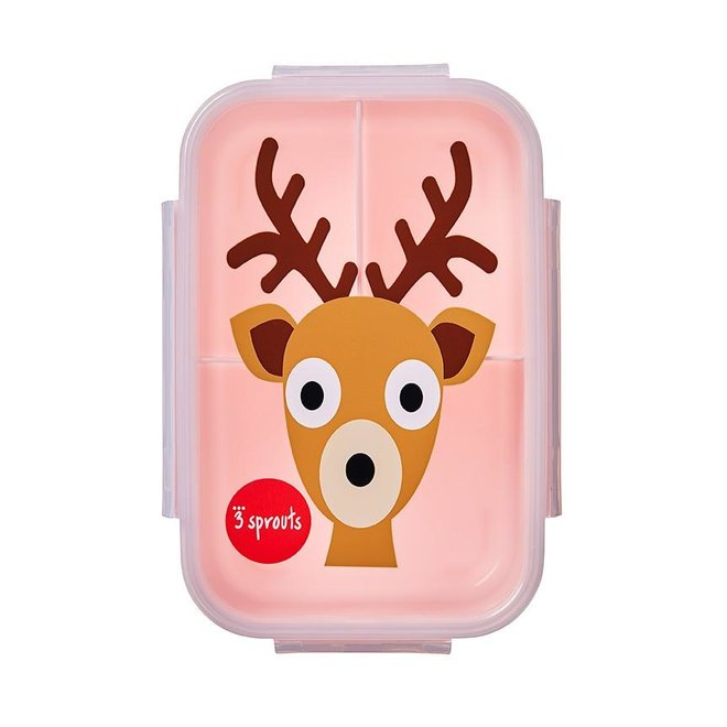 3 Sprouts Deer Bento Box - Pink
