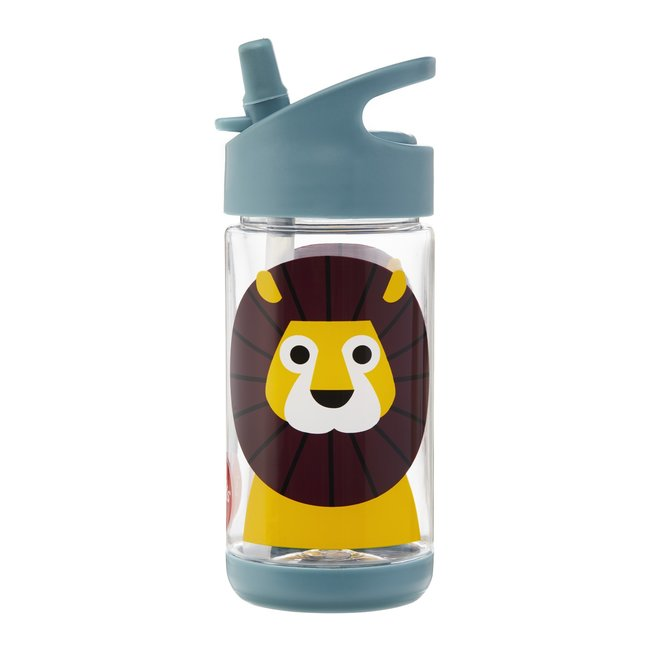 3 Sprouts Lion Water Bottle - Blue