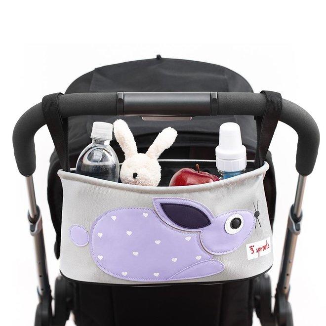 3 Sprouts Rabbit Stroller Organizer - Purple