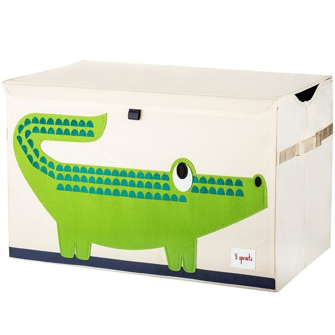 3 Sprouts Crocodile Toy Chest - Green