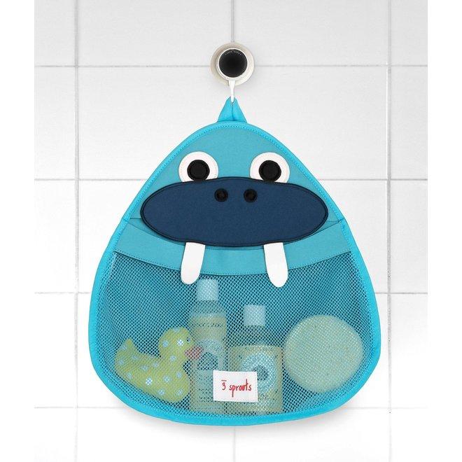 3 Sprouts Walrus Bath Storage - Blue