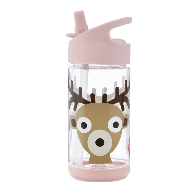 3 Sprouts Deer Water Bottle - Pink