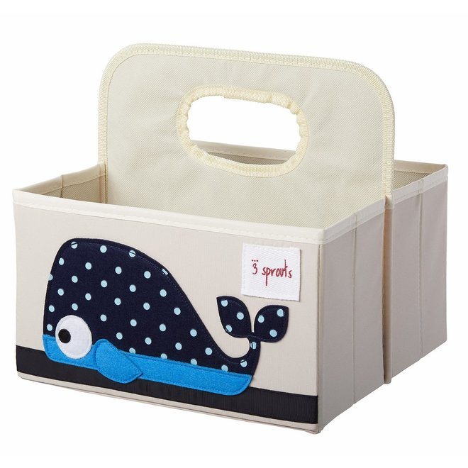 3 Sprouts Whale Diaper Caddy - Blue