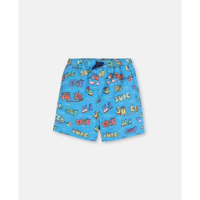 Kid Boy Super Dude Swim Shorts