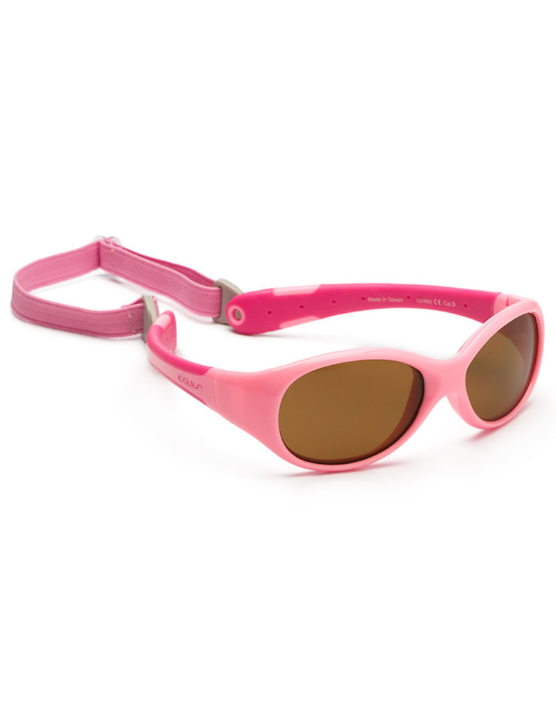 Baby Sunglasses Hot Pink Orange KOOLSUN Flex 0-3 Years
