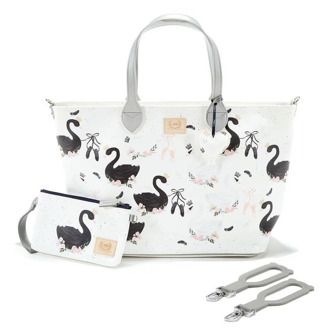 FEERIA PREMIUM ZIP  LARGE BAG WITH A CLUTH - MOONLIGHT SWAN