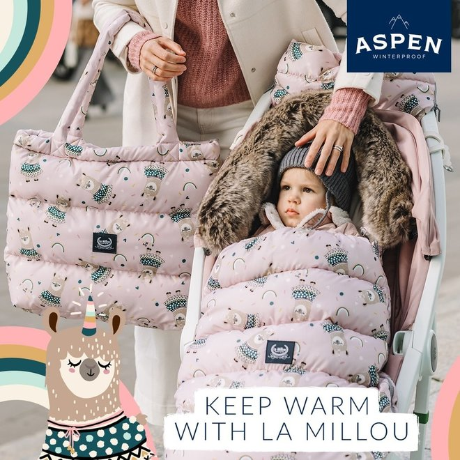 ASPEN WINTERPROOF SHOPPER BAG - BOHO ROYAL ARROWS DARK