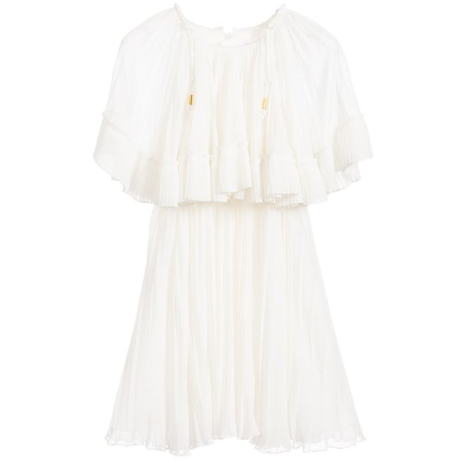 Chloe Santorin D2 Enf Dress Offwhite