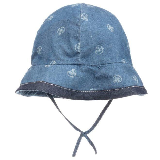 Chloe Santorin D3 Lay Hat Denim Blue