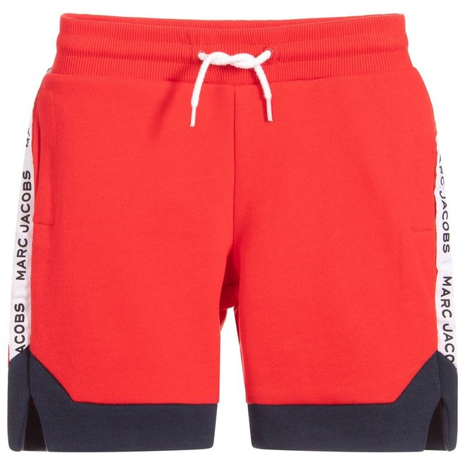 Basic Line D2 Bermuda Shorts+Belt Bright Red