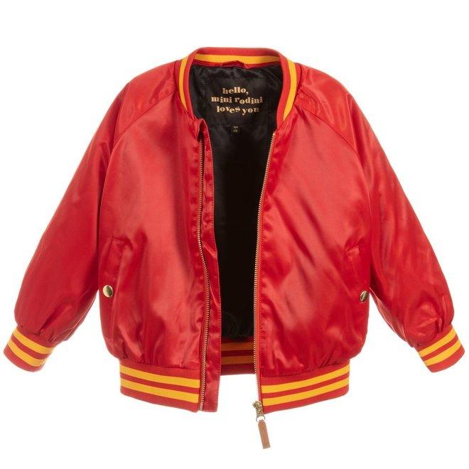 Mini Rodini Panther Baseball Jacket Red