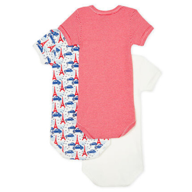 Baby Boys' Short-Sleeved Bodysuit 3 Piece Set Tower