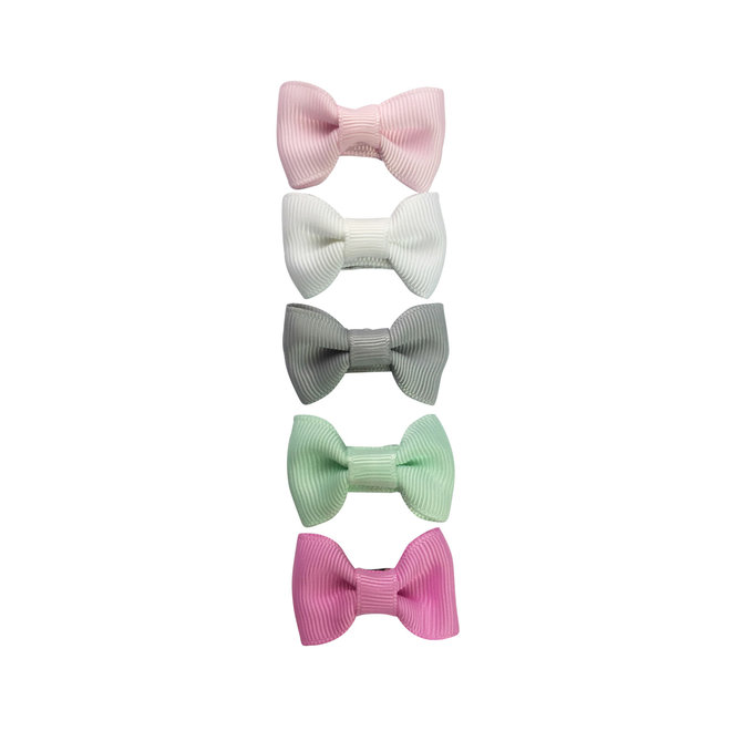 Baby Wisp - 5 Charlotte Bows Snap Clip - Flowers in Attic