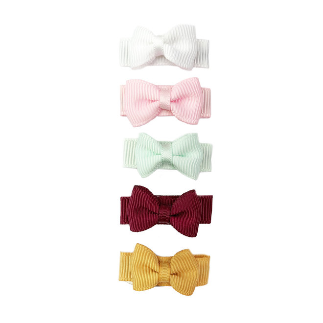 Baby Wisp - Small Snap Chic Bows 5 Pack - Vintage Fields