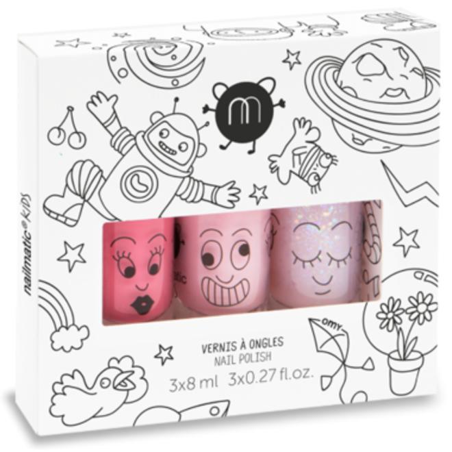 Nailmatic Set of 3 nail polishes Party