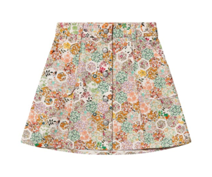 Bonpoint JUPE COURTE SHORT SKIRT WITH CORAL LIVERTY