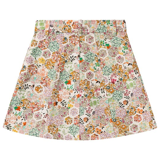JUPE COURTE SHORT SKIRT WITH CORAL LIVERTY