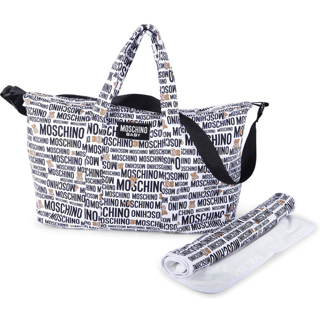 ALLOVER PRINT BABY CHANGING BAG WITH MAT