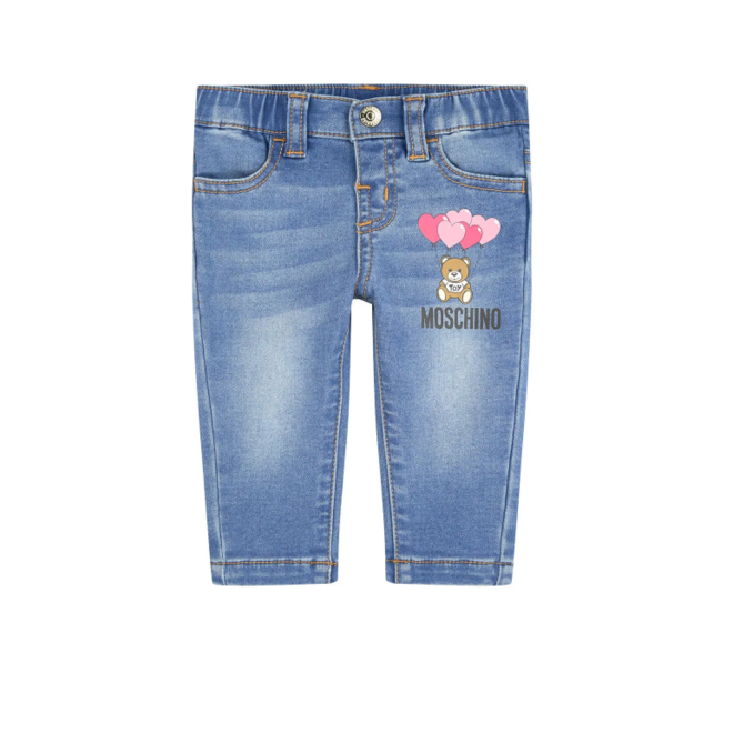 HEART BALLOONS TEDDY BEAR JEANS