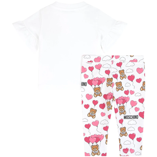 GIRLS ALLOVER+SAME PRINT T-SHIRT AND LEGGINGS SET