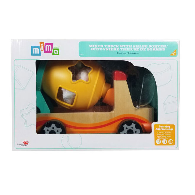 Mima Toys Mixer Truck with Shape Sorter