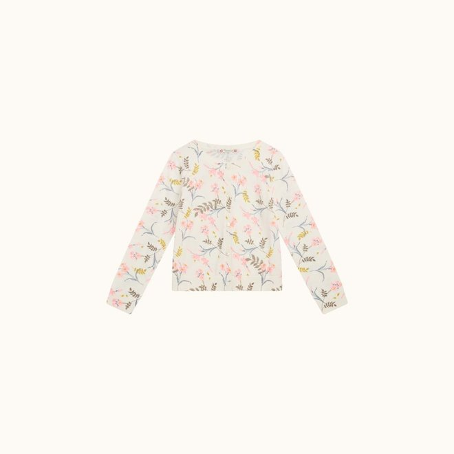 Fluoro Floral Knit Cardigan