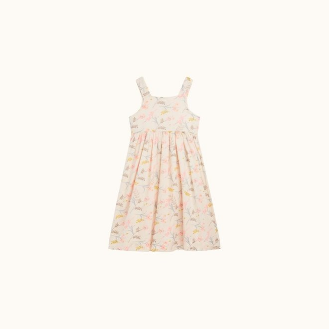 GIRLS' LALY DRESS NATURAL WHITE