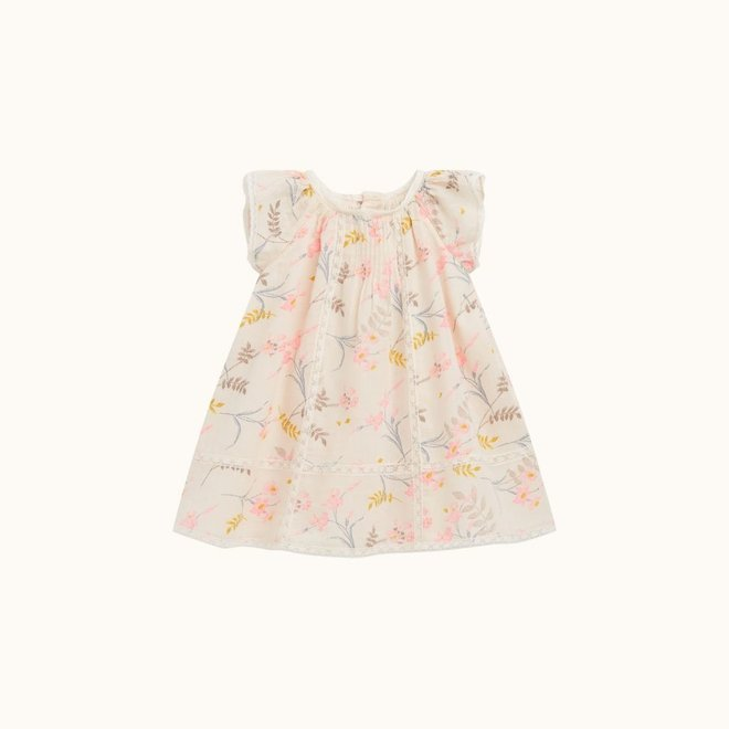 LILLY DRESS WITH LACE DETAILS NATURAL