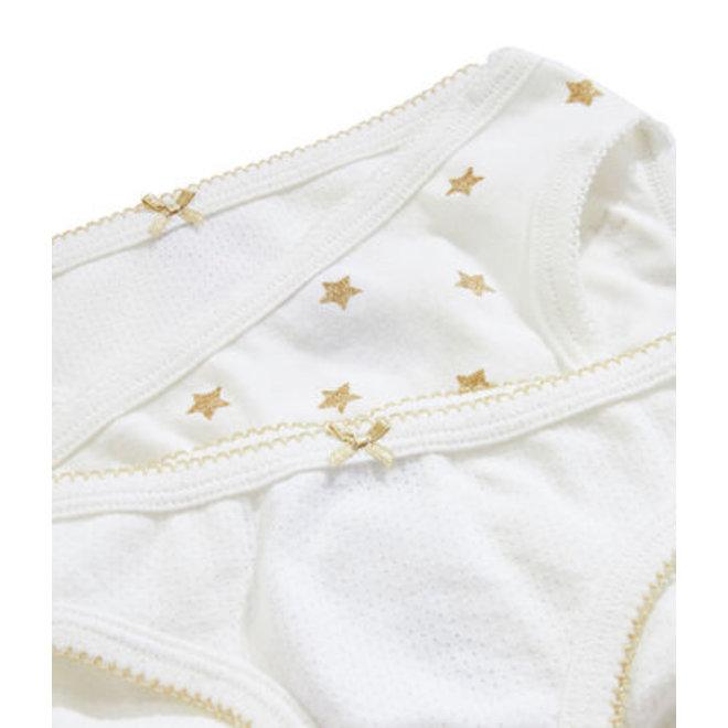 Girls' Underwear Gold Star 3-Piece Set