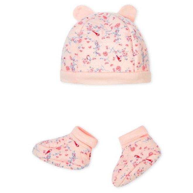 Bonnet Chaussons Pink Flower