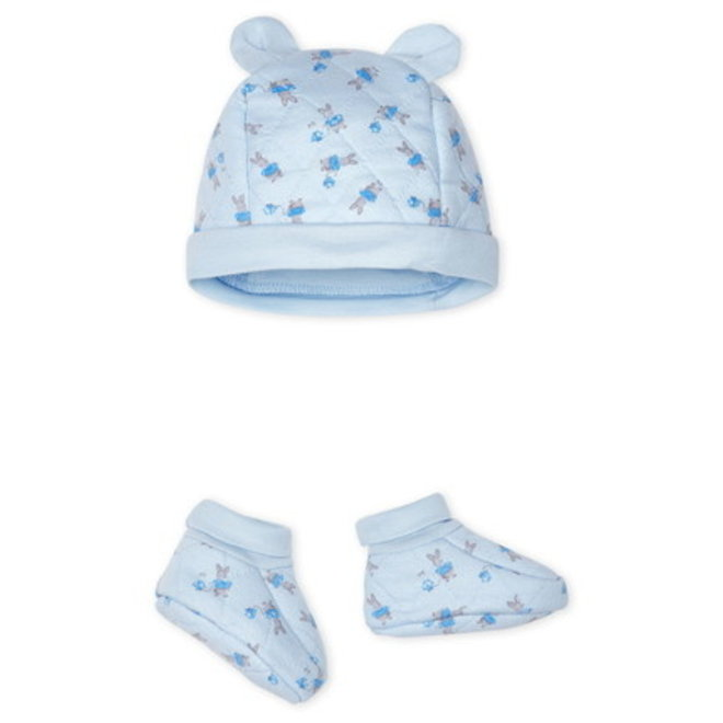 Bonnet Chaussons Blue Bunny